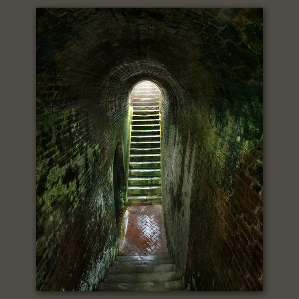 Stairway to the Sally Port, Fort Washington, Maryland