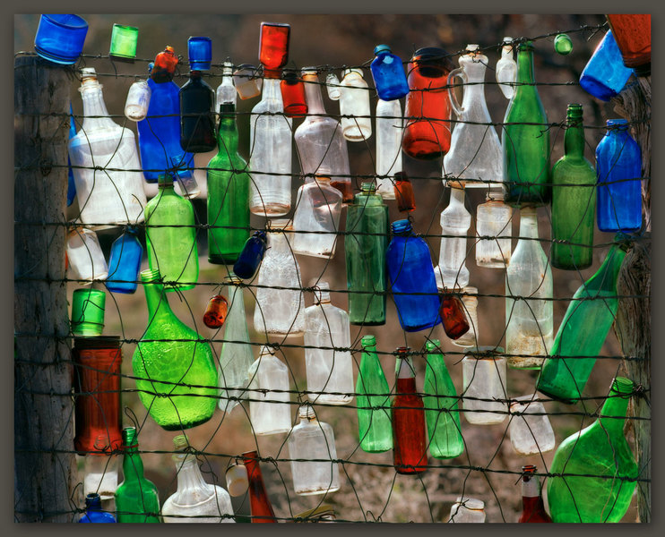 Bottles On A Fence, New Mexico