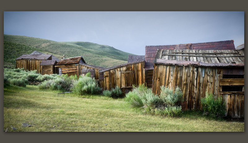 Buildings on a Hill, Bodie, California