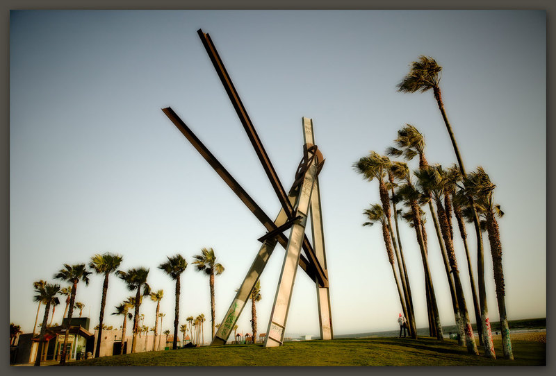 Sculpture and Trees, Venice Beach, Califiornia